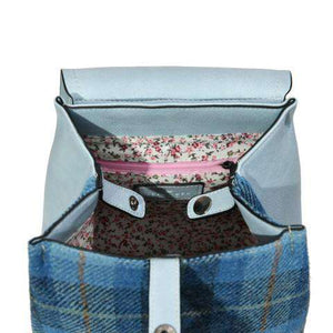 Copy of The Jura Harris Tweed Backpack (Blue Tartan) Backpacks Snowpaw Contempo