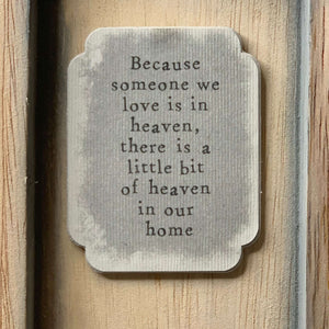 "East of India ""Because Someone We Love"" Standing Box Frame - Contempo"
