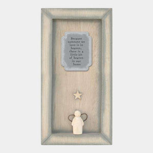 "East of India ""Because Someone We Love"" Standing Box Frame Plaques & Signs East of India Contempo"