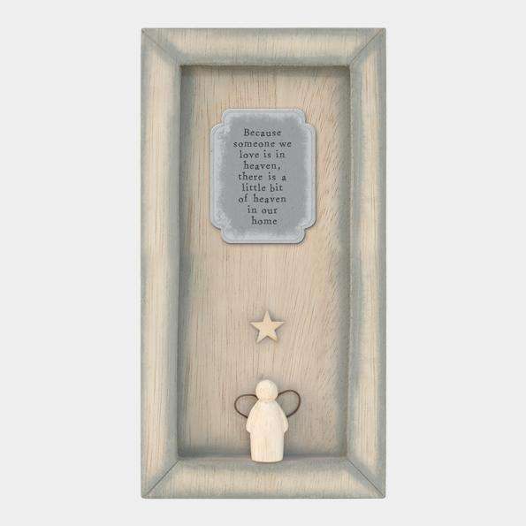 "East of India ""Because Someone We Love"" Standing Box Frame"