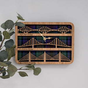 Forth Bridges Wall Clock Clocks LT Creations Contempo