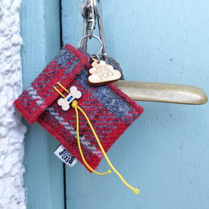 "Harris Tweed ""Auch Aye the Poo"" Dog Poo Bag Dispenser Dog Poo Bag Dispensers Bertie Girl Contempo"