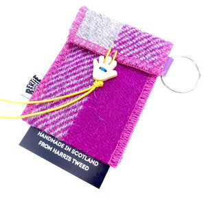 "Harris Tweed ""Handy Wee Thingy"" Earphone & Coin Pouch Keyrings Bertie Girl Contempo"