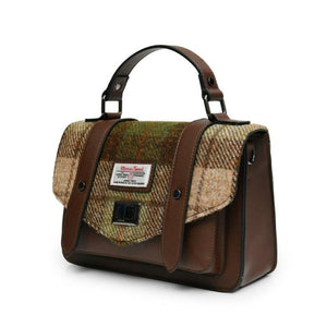 Harris Tweed Satchel / Handbag (Chestnut Tartan) Shoulder Bags Snowpaw Contempo
