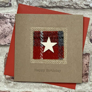 Harris Tweed & Star Birthday Card Greetings Cards All That Glitters Contempo