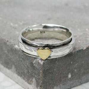 HEART SPIN RING - Contempo