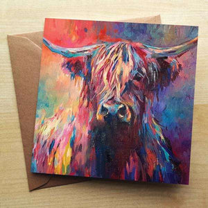 Highland Cow Blank Greetings Card Greetings Cards Wraptious Contempo