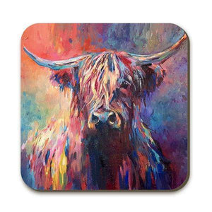 Highland Cow Coaster Coasters Wraptious Contempo