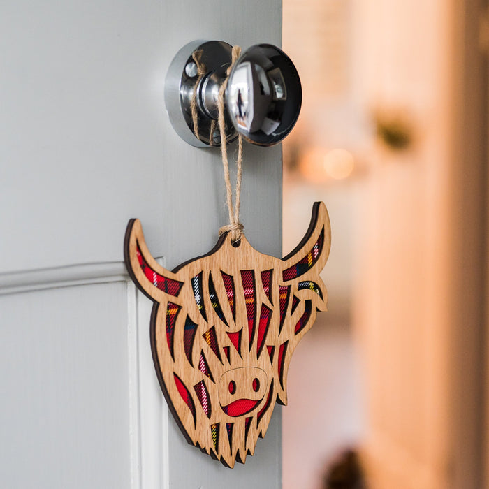 Highland Cow Decorative Wall Plaque