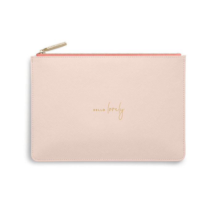 "Katie Loxton Perfect Pouch ""Hello Lovely"" in Pink"
