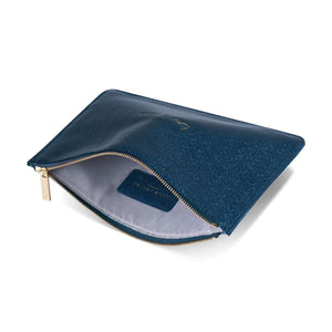"Katie Loxton Perfect Pouch ""Time to Shine"" in Metallic Navy Clutch Bags Katie Loxton Contempo"