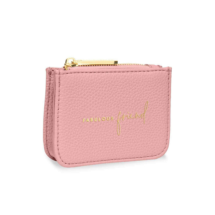 "Katie Loxton Stylish Structured Coin Purse ""Fabulous Friend"" in Pink"