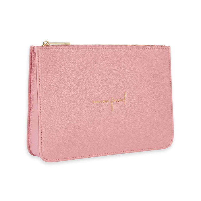 "Katie Loxton Stylish Structured Pouch ""Fabulous Friend"" in Pink"