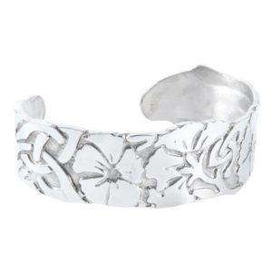 Large Celtic Flower Pewter Bangle (S) - Contempo