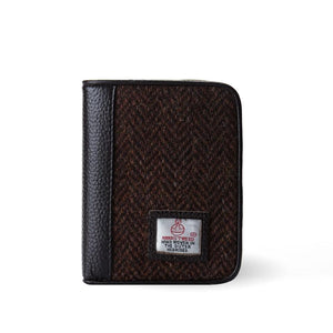 Mens Harris Tweed & Leather Wallet Wallets Snowpaw Contempo