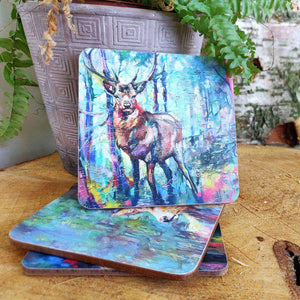 Mystic Stag Coaster Coasters Wraptious Contempo