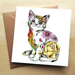 Rosie the Cat Blank Greetings Card Greetings Cards Wraptious Contempo