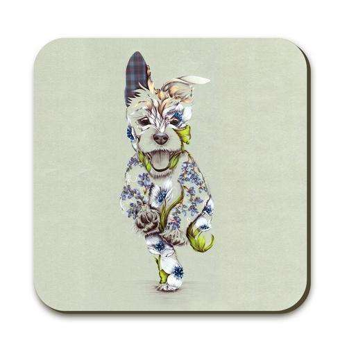 Rustic Cairn Scottie Dog Coaster
