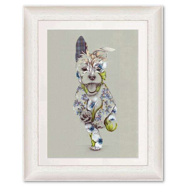 Rustic Cairn Scottie Dog Art Print