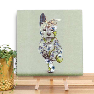 Rustic Cairn Scottie Dog Mini Canvas Canvases Wraptious Contempo