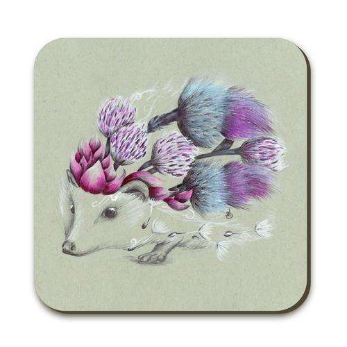 Rustic Hedgehog Coaster