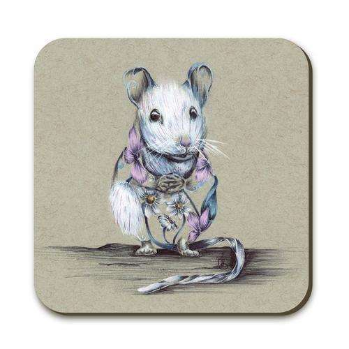 Rustic Mouse Coaster