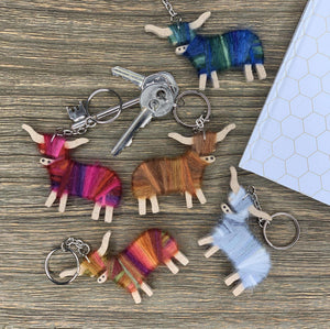 Scottish Highland Cow Keyring - Contempo