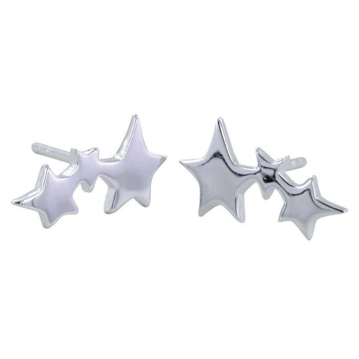 Shooting Star Studs - Sterling Silver