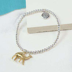 Silver Plated & Grey Bead Camel Bracelet Jewellery Peace of Mind Contempo