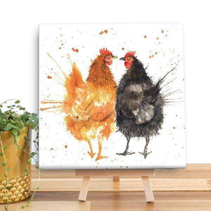 Splatter Hens Canvas Canvases Wraptious Contempo