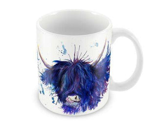 Splatter Highland Cow Mug Mugs Wraptious Contempo