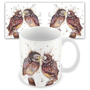 Splatter Loved Up Owls Mug Kitchenware Wraptious Contempo