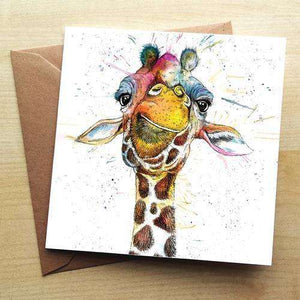 Splatter Rainbow Giraffe Card Greetings Cards Katherine Williams Contempo
