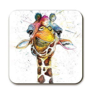Splatter Rainbow Giraffe Coaster Coasters Wraptious Contempo