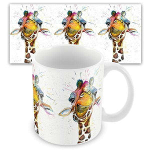 Splatter Rainbow Giraffe Mug Mugs Wraptious Contempo