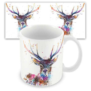 Splatter Rainbow Stag Mug Mugs Wraptious Contempo