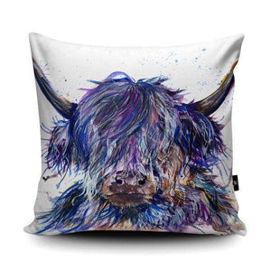 Splatter Scruffy Highland Coo Cushion Cushions Wraptious Contempo