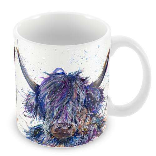 Splatter Scruffy Highland Cow Mug