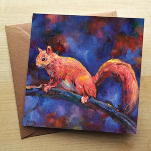 Squirrel Blank Greetings Card Greetings Cards Wraptious Contempo