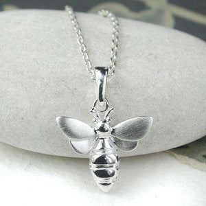 Sterling Silver Bee Necklace Jewellery Peace of Mind Contempo