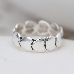 Sterling Silver Multi Heart Ring Rings Peace of Mind Contempo