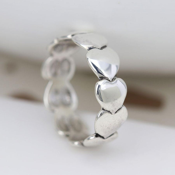 Sterling Silver Multi Heart Ring