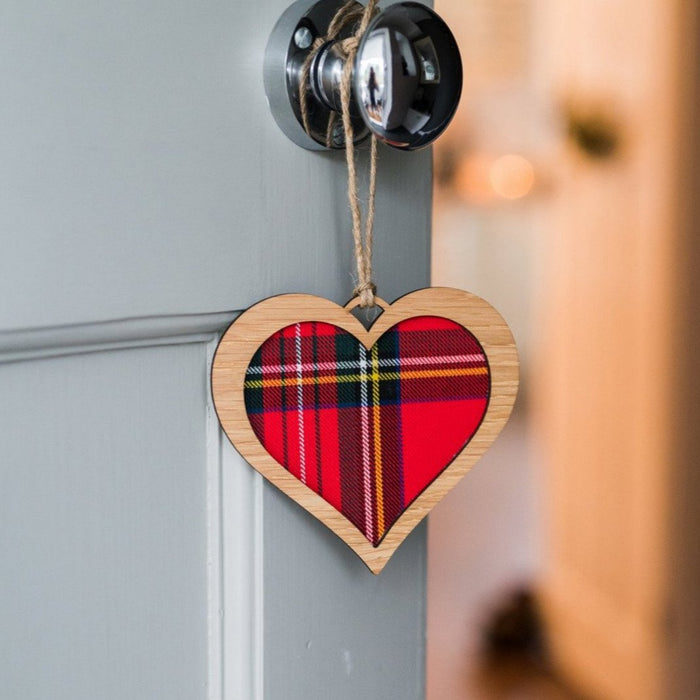 Tartan Heart Decorative Wall Plaque