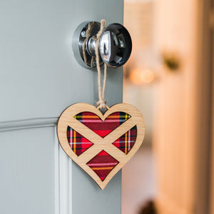 Tartan Heart Decorative Wall Plaque Plaques & Signs LT Creations Contempo