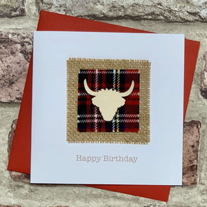Tartan & Highland Cow Birthday Card Greetings Cards All That Glitters Contempo