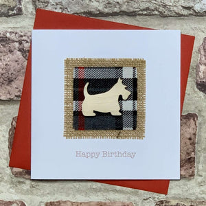 Tartan & Scottie Dog Birthday Card Greetings Cards All That Glitters Contempo