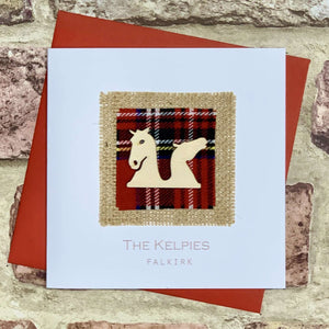 Tartan & Wooden Kelpies Blank Card Greetings Cards All That Glitters Contempo