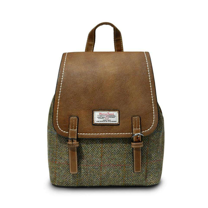 The Jura Harris Tweed Backpack (Chestnut Herringbone)