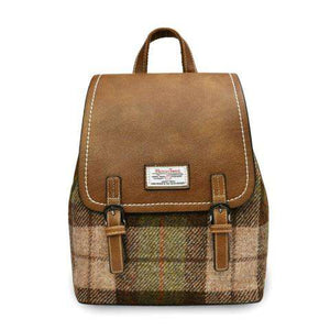 The Jura Harris Tweed Backpack (Chestnut Tartan) Backpacks Snowpaw Contempo