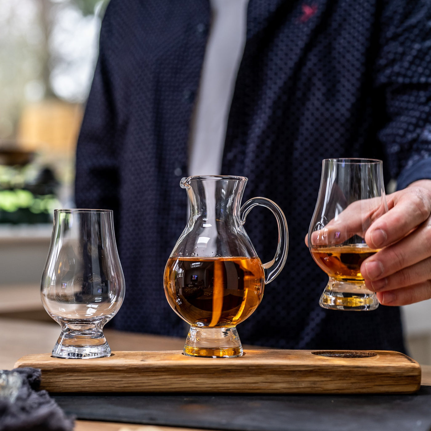 Twin Glencairn Whisky Glass and Water Jug Set